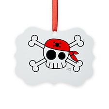 Pirate Skull W Ornament