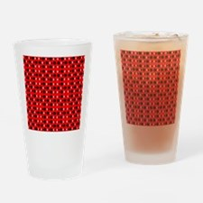 Black Red Cool Shapes Designer Drinking Glass