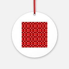 Black Red Cool Shapes Designer Round Ornament
