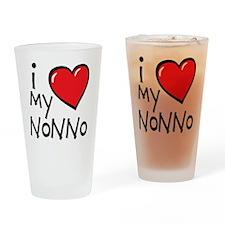 I Love My Nonno Drinking Glass
