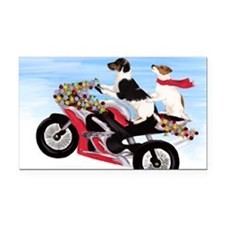 Jack Russell Terriers on a Mo Rectangle Car Magnet