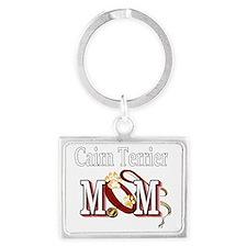 Cairn Terrier Mom Landscape Keychain