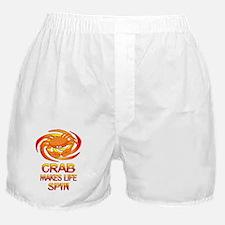 Crab Spins Boxer Shorts