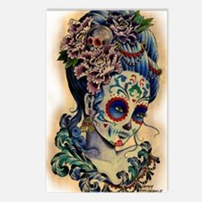 Marie Muertos shower curt Postcards (Package of 8)
