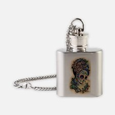 Marie Muertos shower curtain Flask Necklace