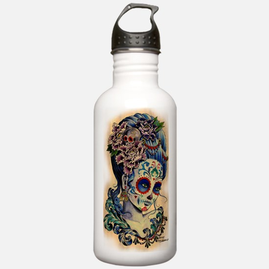 Marie Muertos shower c Water Bottle