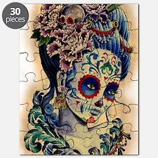 Marie Muertos shower curtain Puzzle