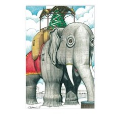 Lucy the Christmas Elepha Postcards (Package of 8)