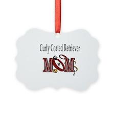 Curly Coated Retriever Mom Ornament