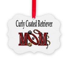 Curly Coated Retriever Mom Picture Ornament