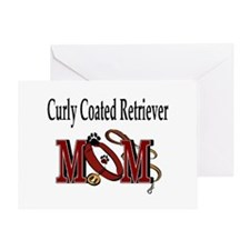 Curly Coated Retriever Mom Greeting Card