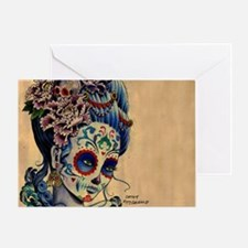 Marie Muertos laptop skin Greeting Card