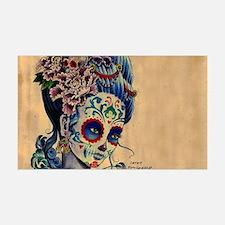 Marie Muertos laptop skin Wall Decal