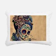 Marie Muertos laptop ski Rectangular Canvas Pillow