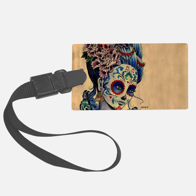 Marie Muertos laptop skin Luggage Tag