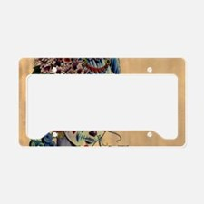 Marie Muertos laptop skin License Plate Holder