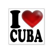 """I Heart Cuba Square Sticker 3"""" x 3"""""""