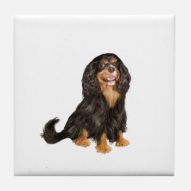 Cavalier (blk-tan) Tile Coaster
