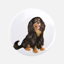 "Cavalier (blk-tan) 3.5"" Button"