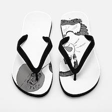Foot-in-mouth Mitt Flip Flops