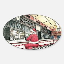 Santa at the Bound Brook Diner, Bou Decal