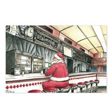 Santa at the Bound Brook  Postcards (Package of 8)
