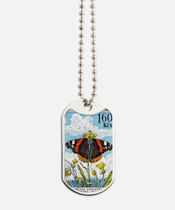 1961 Czech Red Admiral Butterfly Postage  Dog Tags
