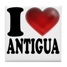 I Heart Antigua Tile Coaster
