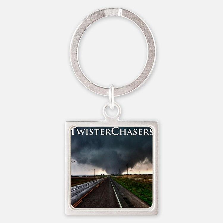 TwisterChasers Tornado Square Keychain