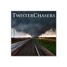 "TwisterChasers Tornado Square Sticker 3"" x 3"""