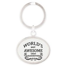 World's Most Awesome Great Grandmother Oval Keycha