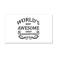 World's Most Awesome Great Grandmother Car Magnet