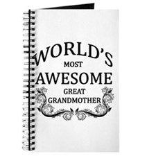 World's Most Awesome Great Grandmother Journal