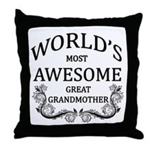 World's Most Awesome Great Grandmother Throw Pillo