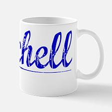 Mitchell, Blue, Aged Mug