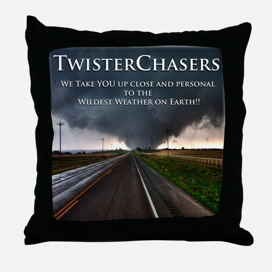 TwisterChasers Back Throw Pillow