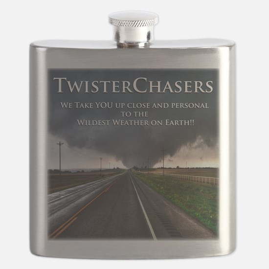 TwisterChasers Back Flask