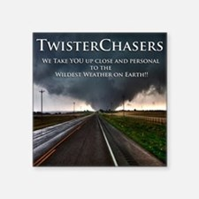 "TwisterChasers Back Square Sticker 3"" x 3"""