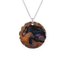Shimmering Strength, Jumping Horse Necklace
