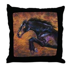 Shimmering Strength, Jumping Horse Throw Pillow