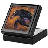 Dressage horses Square Keepsake Boxes