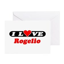I Love Rogelio Greeting Cards (Pk of 10)