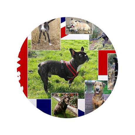 "Tripawds UK Three Legged Dogs 3.5"" Button"