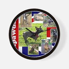 Tripawds UK Three Legged Dogs Wall Clock