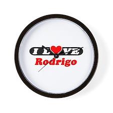 I Love Rodrigo Wall Clock