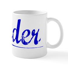 Nader, Blue, Aged Small Mug
