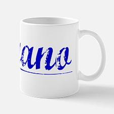 Morano, Blue, Aged Mug