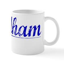 Needham, Blue, Aged Mug