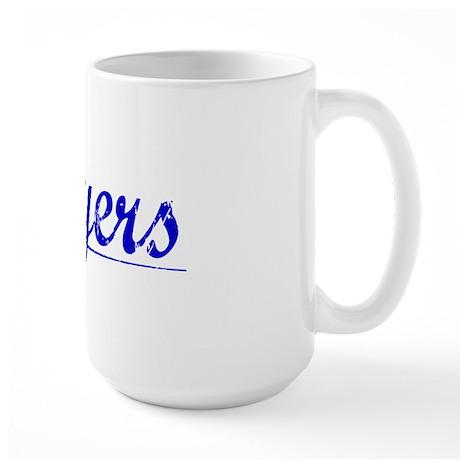 Moyers, Blue, Aged Large Mug