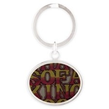 That Sofa King Cool Oval Keychain